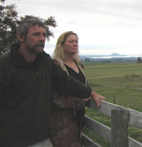 Farmers Geoff and Karen Turner stand vigil after deer were killed on their Work Rd property.