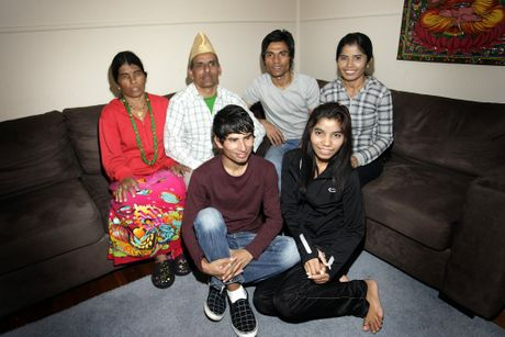 One of five families living on Bribie that have come from Nepal after being in refugee camp for 18 years. Dhan, Birkaa, Damben, Yam, Shiva and Nar Bista. Photo Vicki Wood / Caboolture News