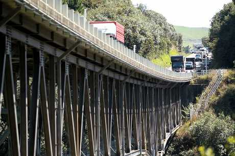 Major works are under way at Mohaka Bridge