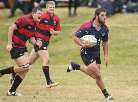 TRY TIME: Rotoiti centre Beau Kiel breaks the Whaka defensive line to score his team's third try.