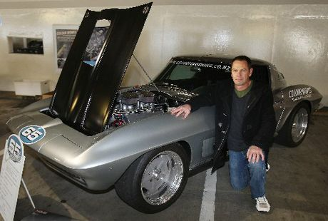CLASSIC: Dave Best with his 1965 Chevrolet Corvette Stingray.