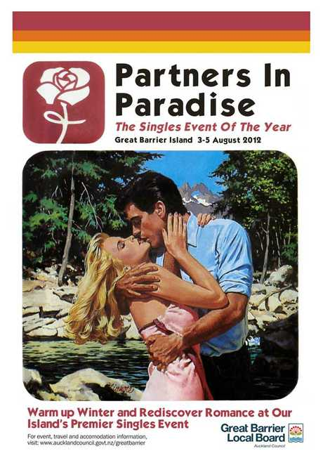 The Partners in Paradise flyer