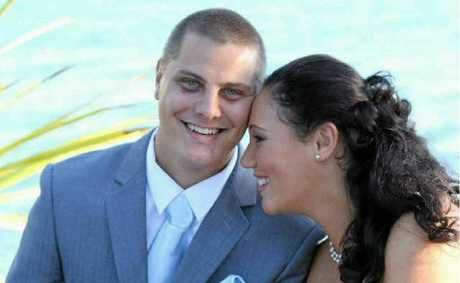 Allana and John Kneas were married on June 26 last year at Spinnaker Park and celebrate their one-year wedding anniversary today.