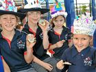 Brightwater State School celebrates the Queen&#39;s Jubilee.
