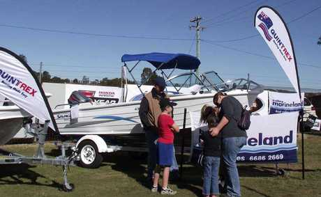 CAMPING SHOW: The marine display at the Yellow Pages 4WD, Caravan, Camping and Marine Show.