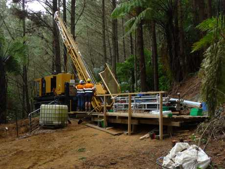 Environmentalists are concerned the drilling could spark large scale gold mining in the Te Puke area.