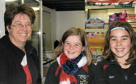 Julie See, Kaycie Gillam and Caitlin Schnitzerling have been working hard to keep the players', supporters' and officials' bellies full at the Queens Park Canteen.