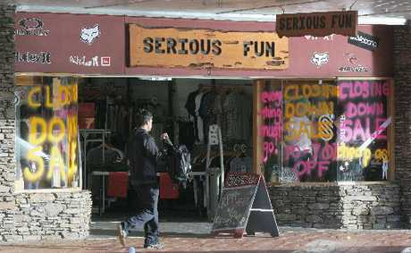 FINAL WEEKS: Rotorua store Serious Fun is to close in about six weeks.