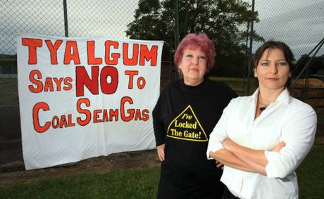 DECLARING: Julie McNamara and Michelle Rawlings at Tyalgum.