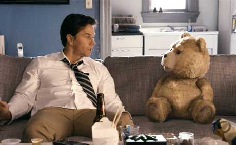 Mark Wahlberg in a scene from the movie Ted.