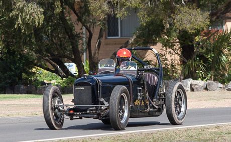 Andrew Wilson hits the streets of Leyburn in his 1926 Amilcar.