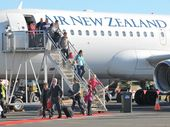 Air New Zealand's historic first direct flight to the Sunshine Coast.