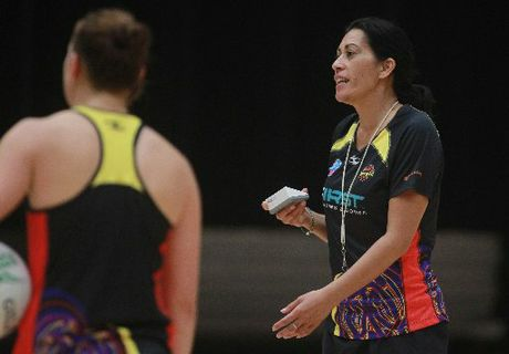 Waikato Bay of Plenty Magic coach Noeline Taurua at a training session at ASB Arena, Mount Maunganui.