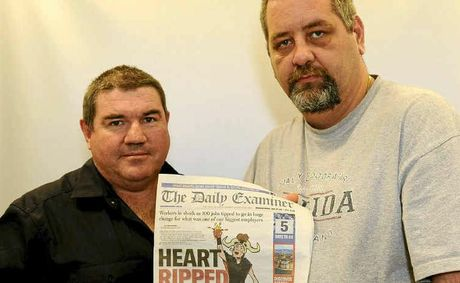 Prison Officers Union president Matt Brindley and Clarence Valley Community Unions spokesperson Tony King are calling on Grafton residents to support a jail protest rally on Thursday.