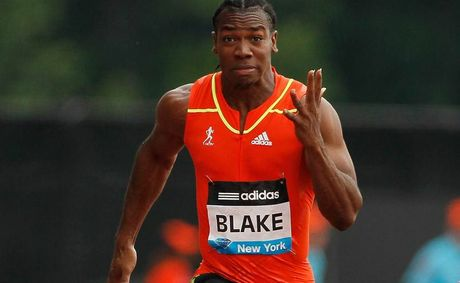 Sprinter Yohan Blake has defeated Usain Bolt for a second time at the Jamaican Olympic trials.