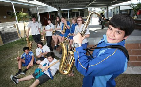 COMMUNITY CABINET: Clint Fox, 16 and band members from Redbank Plains SHS will be performing for the Pime Minister Julia Gillard when she visits the school on July 10.