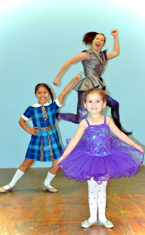 YOUNG PERFORMERS: Phoebe Colburn, 3, Jayde Radonova, 7 and Romy Vuksan, 17, will be performing in the Ritz Performing Art&#39;s Centre&#39;s Biennial Gala Concert. 