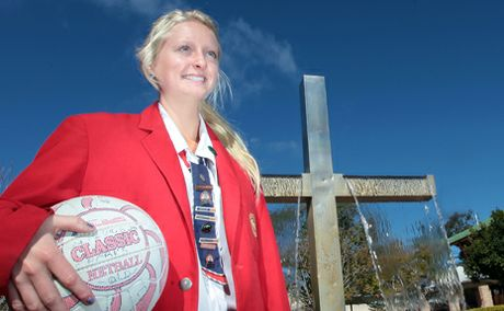 SPORTING STAR: St Johns Anglican Student Tia Broughton represented school at the Pierre de Coubertin Awards.