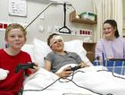Playstations and beds for families, all donated by Wishlist, make the time spent at Nambour General Hospital by children such as Virgil Scrivener, 12, Lewis Thompson, 12, and Britnee Gibbins, 15, a little easier.