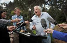Clive Palmer addresses media at his Palmer Coolum Resort. FILE IMAGE