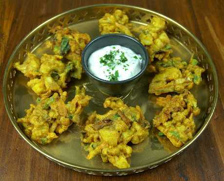 Pakoras are spicy, battered, vegetable snacks