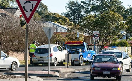 Another crash occurred yesterday at the intersection of Hursley Rd, Anzac Ave and Holberton St, the worst in Toowoomba.