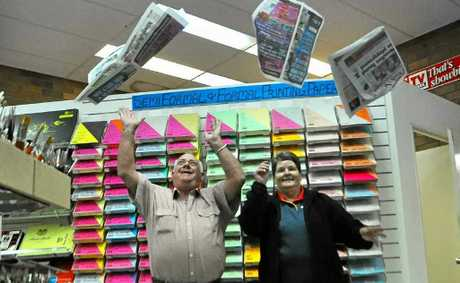 Toby Eather and Regina Millard will say goodbye to the newsagency after 35 and 34 years.