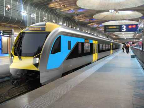 Auckland Transport envisages electric trains like these will travel the City Rail Link.