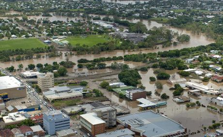 The heart of Ipswich was inundated in the January 2011 floods.