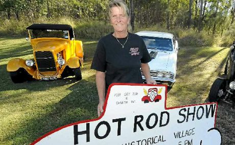 RUNNING HOT: Reef City Rod and Customs member Donna Radford is taking part in the Run in the Sun this weekend.