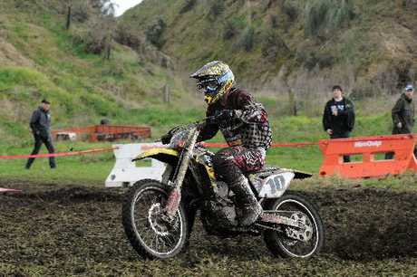 FRONT RUNNER: Cody Cooper (Papamoa) on a Suzuki 450 in last year&#39;s Tarawera 100.