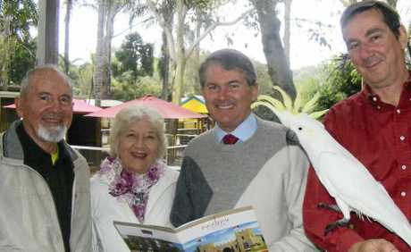 HISTORY RECORDED: At last week's launch of a history book for the Macadamia Castle were (from left) original owners Allan and Joyce Howard, State Member for Ballina and Minister for the North Coast Don Page and current owner Tony Gilding.