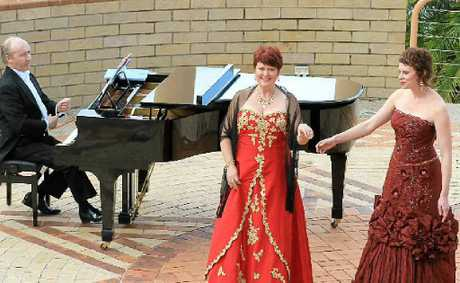 IN FINE VOICE: Accompanist John Woods, soprano Jennifer Parish and mezzo Hayley Sugars will do their operatic thing at The Channon soon.
