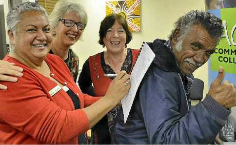 Koori driving instructor Uncle Bucky Robinson, Lee-Ann Emzin from Council, and Gillian Jones and Jan Levy from ACE.