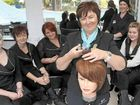 Queensland College of Hairdressing director Dee Murphy (centre) with students and staff Jasmine Hanson, Nikki Drew, Kimmy Franses, Larissa Yates and Rose Hayward.