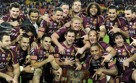 The mighty Queensland Maroons celebrate winning the seventh consecutive State of Origin series against the NSW Blues at Suncorp Stadium last week