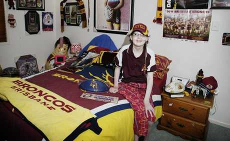 Darren Lockyer's biggest fan Samantha McCurley. Photo Vicki Wood / Caboolture News