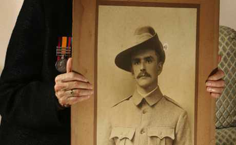 GOOD MAN: Kay Martens, of Flinders View, honoured the memory of her grandpop, Arthur Mitchell, at the Reserve Forces Day ceremony.