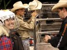 HEART PUMPING: Alex Harmon gets ready to ride a bull for the first time.