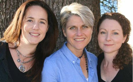 SOLID ROCK: Authors Alicia Ranford, Lainie Anderson and Angie Willcocks are helping families survive the mining boom and the perils of fly-in, fly-out lifestyle.