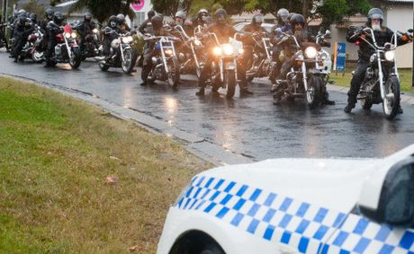 Police fined a travelling chapter of the Life and Death Motorcycle Club in Coffs Harbour this afternoon.