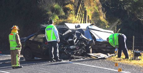 070712lh1  Two people have been killed after a car crash near Waimana. Photo Lani Hepi