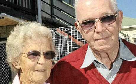 WATER LEAK: Ethel and William Andrews of Nambour.