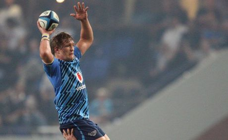 Dewald Potgieter during the Super Rugby match between The Sharks and Vodacom Bulls at Absa Kings Park