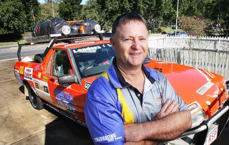 Great Endeavour Rally first-timer Alwyn Bishop has the car packed and ready for take-off.