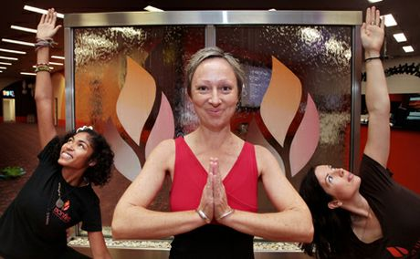 TRUE WELLNESS: Raisa French, Trudy Delaney and Kassia Bennett from Bonfire Yoga at Browns Plains