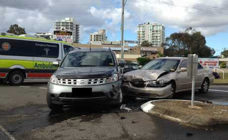 Two cars collided on Monday morning at Cotton Tree.