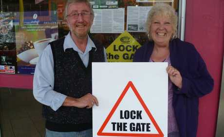 Lock the Gate&#39;s Tweed organisers Michael and Julie McNamara.