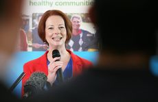 Prime Minister Julia Gillard announces a new Cancer treatment hospital in Springfield.