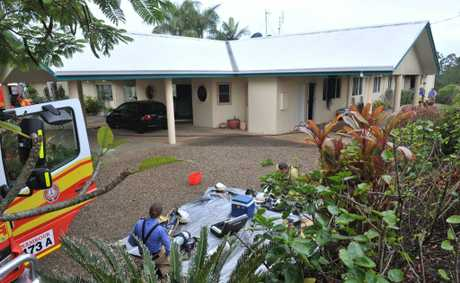 The scene of an alleged suspicious house fire in Eumundi.